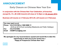 CNY Early Closure Notice (myAIG)