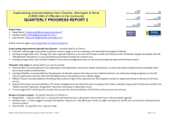 Quarterly Report - HNA 18 month Cheshire project