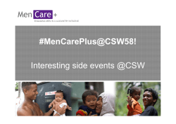 #MenCarePlus@CSW58! Interesting side events @CSW