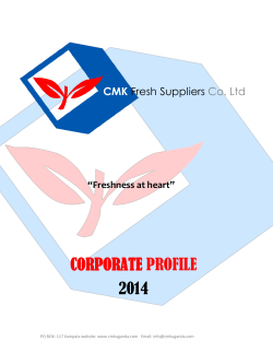 company profile - CMK Fresh Suppliers Co. Official website