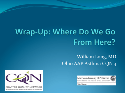 William Long, MD Ohio AAP Asthma CQN 3