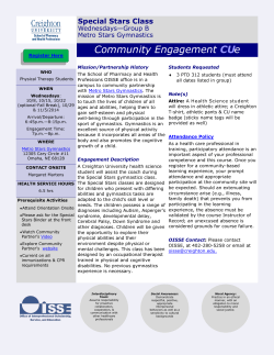 Community Engagement CUe - School of Pharmacy and Health
