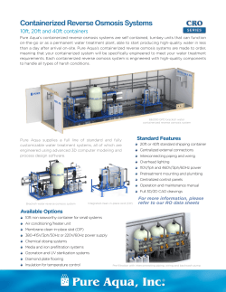 PDF - Containerized Reverse Osmosis Systems CRO