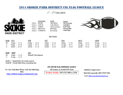 2014 Skokie Park District CSL flag football League