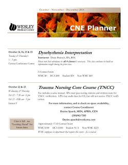 CNE Planner - Wesley Medical Center
