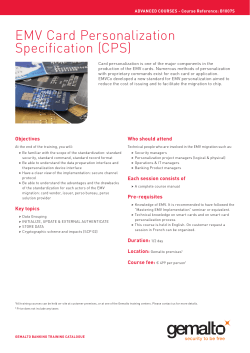 EMV Card Personalization Specification (CPS)