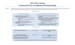 CRA-CPA Canada Framework for an Enhanced