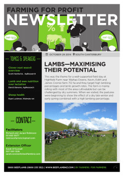 South Canterbury farming for profit newsletter
