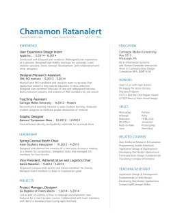 resume - Chanamon Ratanalert