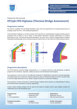 DT775b CPD Diploma (Thermal Bridge Assessment)