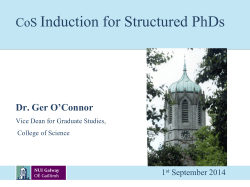 CoS Induction for Structured PhDs