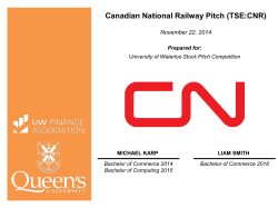 Canadian National Railway Pitch (TSE:CNR)