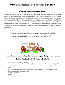 NNPS College Application Week