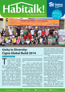 Habitalk April 2014 - Habitat for Humanity Indonesia