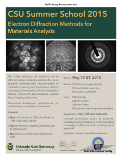 CIF Electron Diffraction summer school 2015-flyer