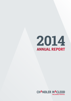 ANNUAL REPORT - Chandler Macleod