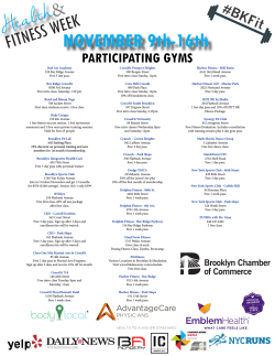 Participating Gyms