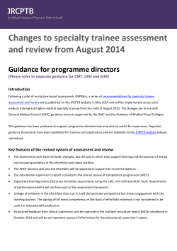 guidance for programme directors