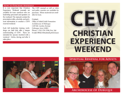 CEW Brochure - Archdiocese of Dubuque