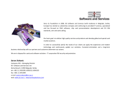 Zoran Zivkovic - SIS Software and Services
