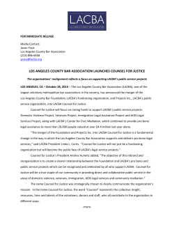 Press Release - Los Angeles County Bar Association
