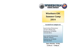Wiseburn CDC Summer Camp 2014