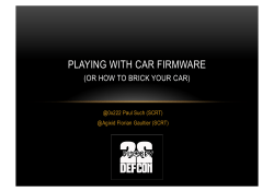 Playing with Car Firmware or How to Brick your Car