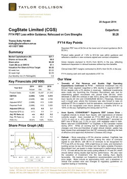 CogState Limited (CGS)