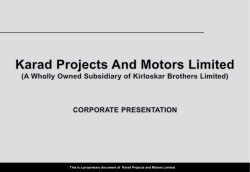 Karad Projects And Motors Limited(KPML)