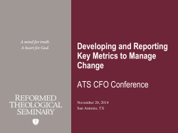 Developing and Reporting Key Metrics to Manage Change ATS