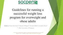 Guidelines for running a successful weight loss program for