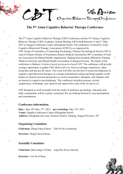 The 5th Asian Cognitive Behavior Therapy Conference