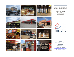 RETAIL STUDY TOUR - Insight Research