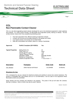 CCL Non-Flammable Contact Cleaner