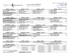 2014-2015 Schedule - Profusion Performing Arts