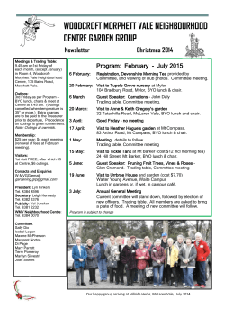 Garden Club Program (February - July 2015)