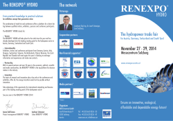 RENEXPO® HYDRO 2014 Flyer (in English)