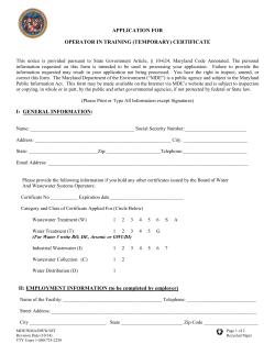 Application for a Temporary Certificate