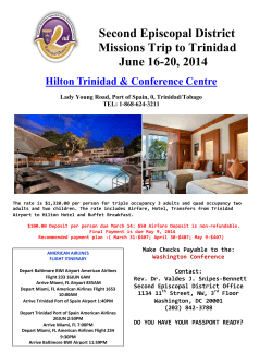 Second Episcopal District Missions Trip to Trinidad June 16