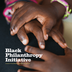 Black Philanthropy Initiative - Arizona Community Foundation