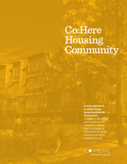 Co:Here Brochure - CO:HERE Housing Community