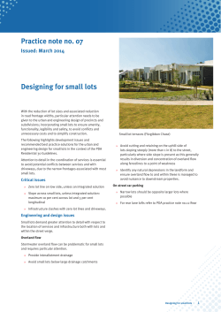 Designing for small lots - Department of State Development