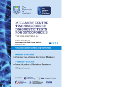Download Flyer - Mellanby Centre for bone research