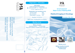Program BSR Annual Symposium - Belgian Society of Radiology