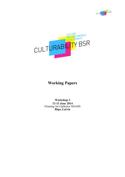 Download Working papers /pdf - culturability baltic sea region