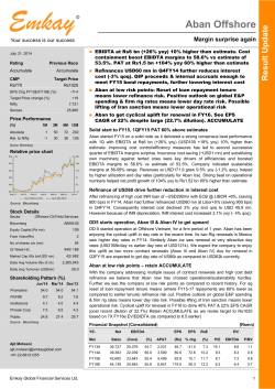 Aban Offshore Q1FY15 Result Update