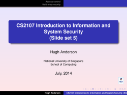 CS2107 Introduction to Information and System Security