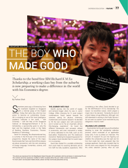 THE Boy who Made Good - Singapore Institute of Management