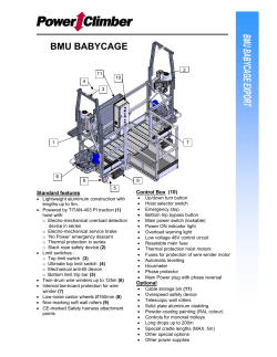 BMU Baby Cages Spec Sheet