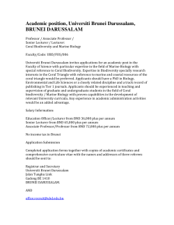 Academic position, Universiti Brunei Darussalam